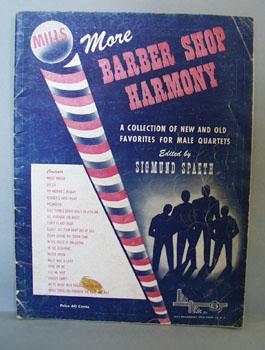 Barber Shop Harmony Sheet Music.