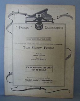 Two Sleepy People Sheet Music