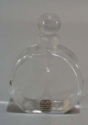 Kosta Sweden cut Perfume bottle.