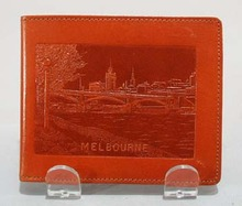 Leather Wallet, Souvineer of Melbourne Austrailia