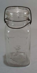 Weideman Boy Brand Bail Handle Canning Jar