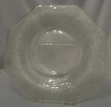 L.E. Smith Crackle Salad Plate in Green