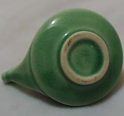 Mini Aladdin Like Green Pottery Pitcher