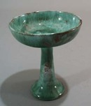 Bermuda Pottery hand thrown compote.