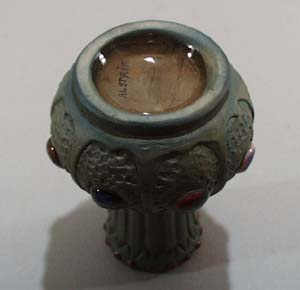 Porcelain mini vase Austria with jewel effect.