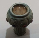 Porcelain mini vase Austria with jewel effect.