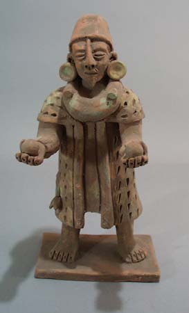 Clay Figure of man holding 2 balls