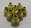 Plant starter ceramic  mini 10 pot statue