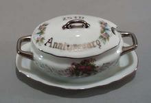 25th wedding anniversary covered jam bowl
