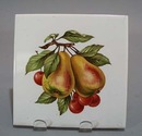 Soriano Ceramics Pear Tea Tile.