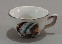 Childs toy cup with Indian on it