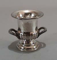 Silver Coffer 10 is on the back of this little double handled urn.