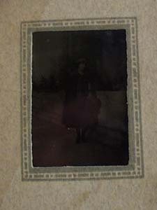 Lady Standing Front of San Gabriel Mission Photograph
