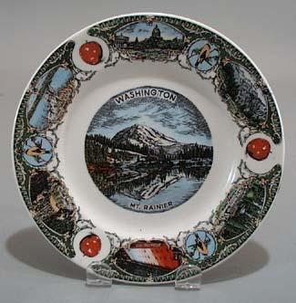 Washington Mt Rainier Souvineer plate,
