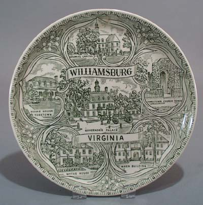 Williamsburg Virginia State plate,