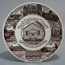 Kettlesprings Marcellus Michigan Centennial plate
