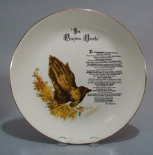 The Praying Hands Helen Steiner Rice plate.