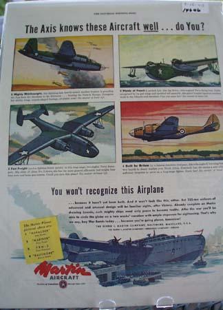 Martin Aircraft Knows Aircraft Ad 1943