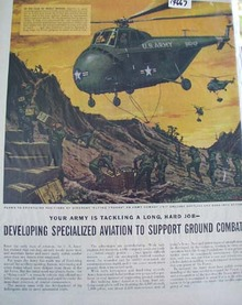 Army Aviation Supports Ground Combat Ad 1952