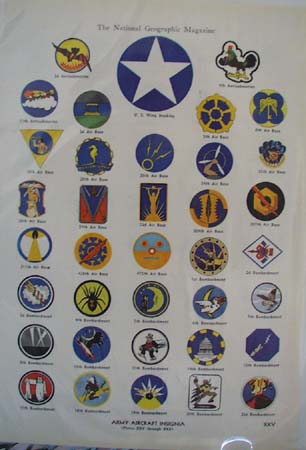 World War II Insignia pictures Ad 1943