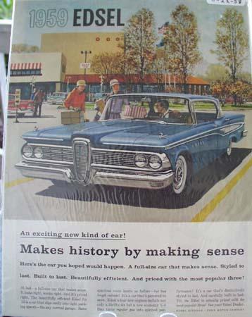 Edsel Makes History Makes Sense Ad 1958