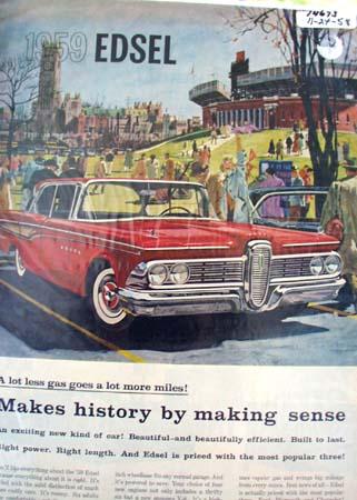 Edsel Built to Last Ad 1958.