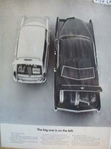 Volkswagen Big One on Left Ad 1969
