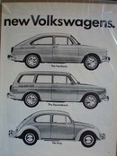 VW Introducing 3 new ones Ad 1965.