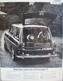 VW How Come we Call It a Sedan Ad 1968.