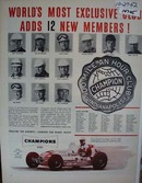 Champions adds 12 New Members Ad 1952