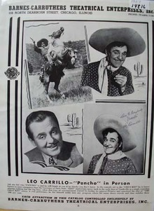 Leo Carillo as Pauncho Ad 1957