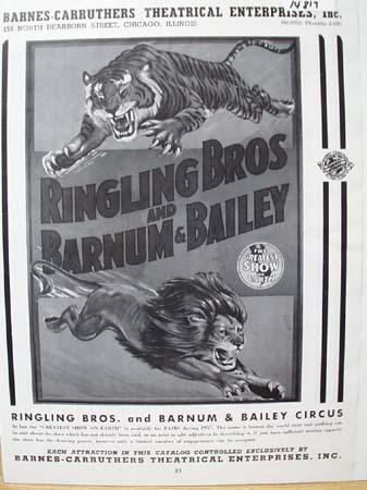 Ringling Bros Circus Ad 1957