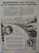 Great Northern RR Minnesota Ad 1958