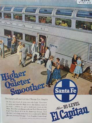 Sante Fe Higher, Quieter Ad 1957