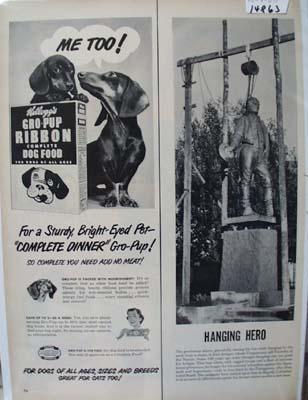 Kellogg's Gro Pup Dog Food Ad 1950