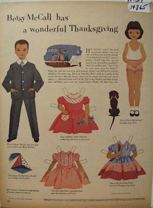 Betsy McCall Thanksgiving Ad 1951