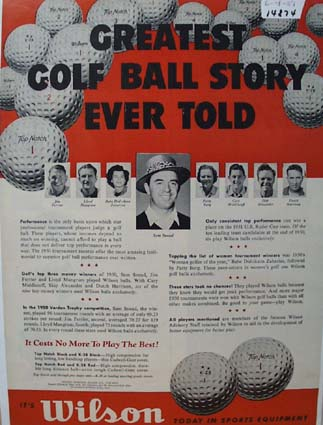 Wilson Golf Balls Greatest Story Ad 1951