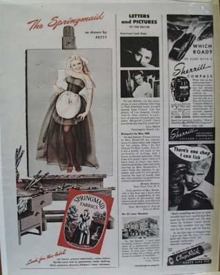 Springmaid Fabrics Presents the Springmaid Ad 1946