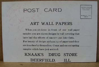 The Art Wall Paper Mills postcard.