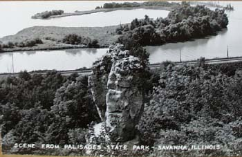 Photo Card Savanna Illinois Palisades postcard.