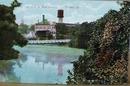 River & Shoe Factory, Pontiac Illinois 1909 postcard
