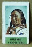 Cracker Jack Card? Western theme showing Little Wolf Cheyenne