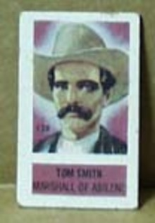 Cracker Jack Card? Western theme showing Tom Smith