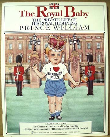 The Royal Baby paper doll Book.