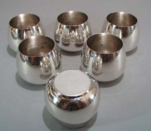 Set of 6 Wm Rogers roly poly glasses.
