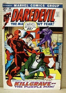 Daredevil June 88 marvel comic, 1972,