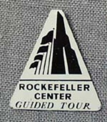 Rockefeller Center Guided tour pocket button.