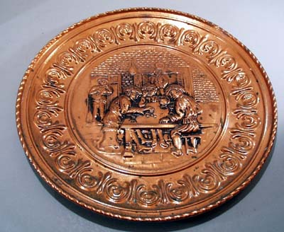 Copper Bar Scene shows men rolling dice.