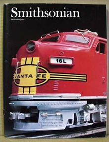 1988 Smithsonian Magazine featuring model railroad trains
