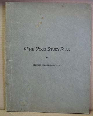 1930 Voco Study Plan for Singing by Charles Norman